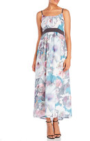 Yumi Cherry Blossom Print Maxi Dress