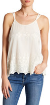 Chaser Embroidered Lace Double Strap Tank