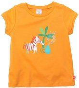 Zutano Zebra Fitted Tee (Toddler) - Orange-4T