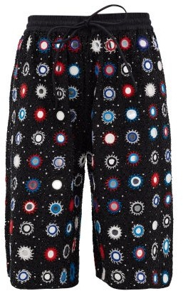 Ashish Cosmic Sheesha Mirror And Bead-applique Shorts - Black Multi