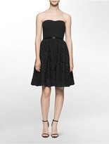 Calvin Klein Strapless Fit + Flare Dress