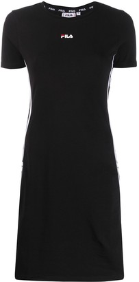 Fila logo panelled T-shirt dress