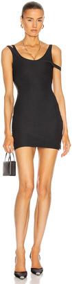 LaQuan Smith for FWRD Layered Mini Dress in Black | FWRD