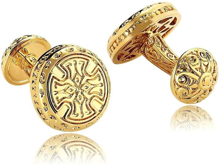 Celtic Mens Cufflinks Stainless Steel Vintage Cross Stud Cufflinks Vintage Dad Unique Jewelry Box Fancy Elegant Aooaz