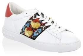 Ash Pom-Pom Leather Sneakers