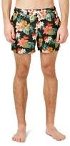 Topman Men's Tropical Floral Print Swim Trunks