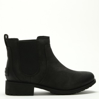 UGG Bonham II Black Leather Chelsea Boots
