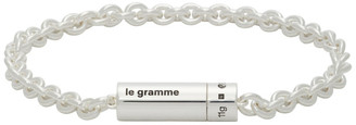 Le Gramme Silver Slick Polished Le 9 Grammes Chain Cable Bracelet