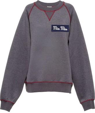 Miu Miu Contrast-Stitch Sweatshirt