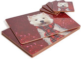 Marks and Spencer Set of 4 Christmas Dog Placemat & Coaster