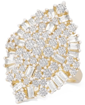 Wrapped in Love Diamond Baguette Cluster Ring (2 ct. t.w.) in 14k Gold, Created for Macy's