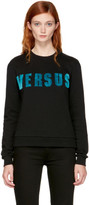 Versus Black Faux-fur Logo Sweatshirt