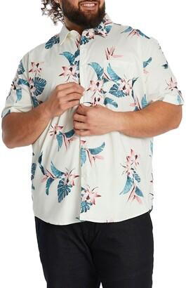 Johnny Bigg Otis Floral Short Sleeve Stretch Button-Up Shirt