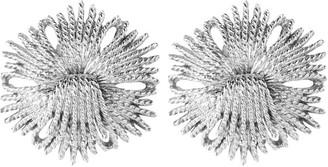 Susan Caplan Vintage 1970s Vintage Monet Cordelia Clip-on Earrings