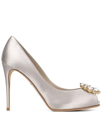 Dolce & Gabbana Embellished-Toe High-Heel Pumps