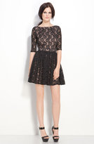 Rachel Zoe 'Amanda' Belted Lace Dress