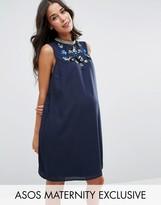 Asos Embellished Neck Dress