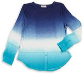 Design History Girls 7-16 Ombre Mock Layer Top