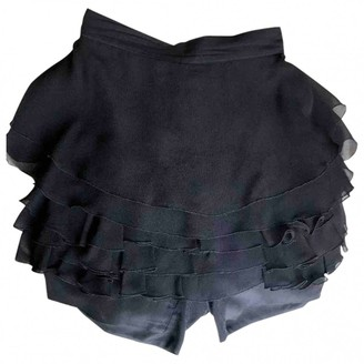 Gianni Versace Black Silk Skirt for Women Vintage