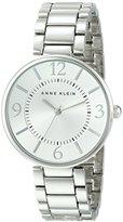 Anne Klein Women's AK/1789SVSV Silver-Tone-Tone Bracelet Watch