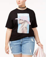 Bravado Trendy Plus Size Cotton Lady Gaga T-Shirt