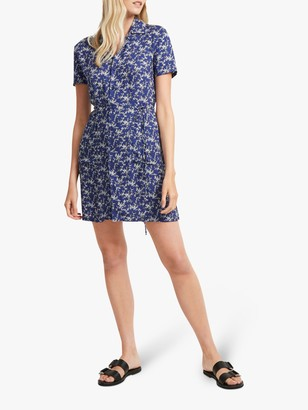 French Connection Cerisier Rayon Dress, Alure Blue Multi