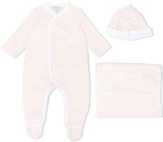 Emporio Armani Kids v-neck pajamas