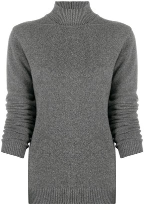 Rick Owens Ribbed Edge Mock Neck Jumper