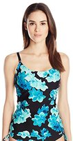Calvin Klein Women's Orchid Over The Shoulder Tankini