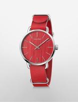 Calvin Klein Even Red Leather Watch