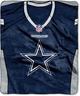 Northwest Company Dallas Cowboys Jersey Plush Raschel Throw