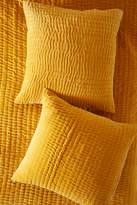 Anthropologie Artisan Quilts By Kantha-Stitched Velvet Euro Sham