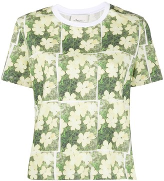 3.1 Phillip Lim daisy print cotton T-shirt