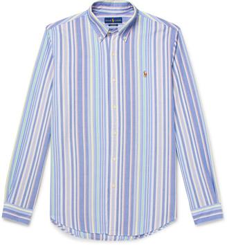 Polo Ralph Lauren Button-Down Collar Striped Cotton Shirt
