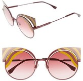 Fendi Women's Hypnoshine 53Mm Cat Eye Sunglasses - Matte Yellow/ Burgundy