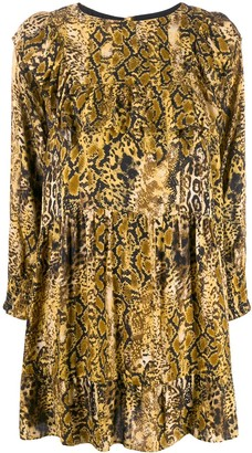 BA&SH Snake Print Shift Dress