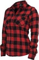 Urban Classics Women's TB388 Checked Flannel Long Sleeve Shirt S