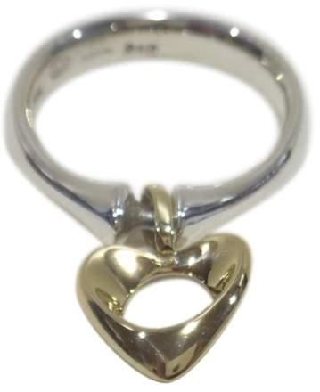Georg Jensen 925 Sterling Silver 18K Yellow Gold Ring Size 6.5