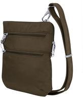 Travelon Anti-Theft Classic Slim Double Zip Cross Body Bag Crossbody Bag