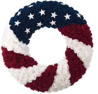 Transpac Foam Multicolor 4th of July Patriotic Wreath