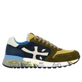 Premiata Mick Sneakers In Suede And Nylon With Logo