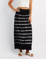 Charlotte Russe Tie Dye Foldover Maxi Skirt