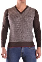 Fred Perry Men's Brown Polyamide Sweater.