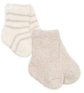 Barefoot Dreams Baby's Cozychic Baby Set-of-2 Socks