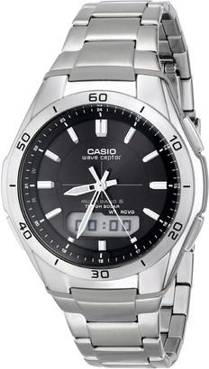 Casio Men's WVA-M640D-1ACR Wave Ceptor Analog-Digital Display Quartz Silver Watch