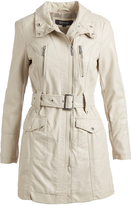 Kenneth Cole Ivory Pocket Trench Coat