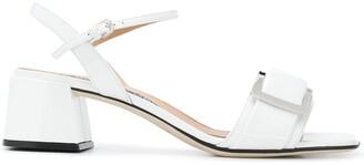 Sergio Rossi Buckle Detail Chunky-Heel Sandals
