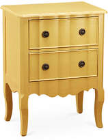 One Kings Lane Fleur Two-Drawer Nightstand - Yellow
