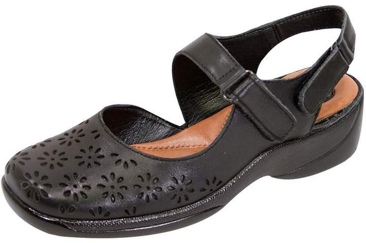 d50fc67435e21 Peerage FIC Kylie Women Extra Wide Width Slingback Comfort Sandal 7.5