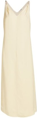 Brunello Cucinelli Embellished-Strap Slip Dress